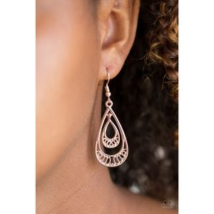 REIGNed Out Rose Gold Double Teardrop Earrings